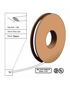 "Dasco Polyolefin 3:1 MIL23053/5 Flattened Heat Shrink - White - 1"" x 100' Roll"