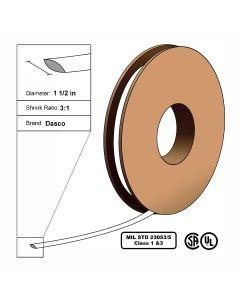 "Dasco Polyolefin 3:1 MIL23053/5 Flattened Heat Shrink - White - 1 1/2"" x 100' Roll"