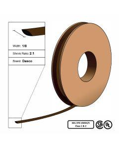 "Dasco Polyolefin 2:1 MIL23053/5 Flattened Heat Shrink - Brown - 1/8"" x 250' Roll"