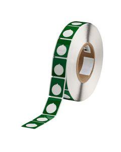 "Polyester Raised Panel Label-1.2.00""x1.50""-Green-500/RL"