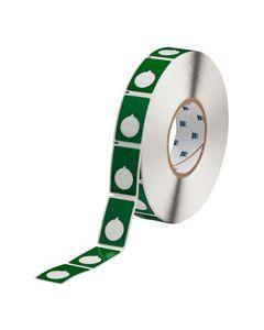 "Polyester Raised Panel Label-1.2.00""x1.90""-Green-500/RL"
