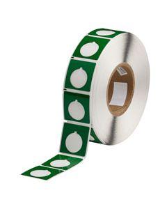 "Polyester Raised Panel Label-1.80""x1.80""-Green-500/RL"