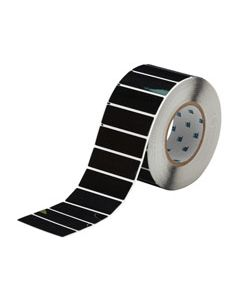 "Polyester Raised Panel Label-3.00""x1.00""-Black-500/RL"