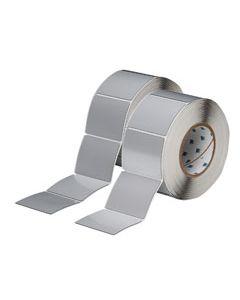 "Polyester Raised Panel Label-3.00""x2.50""-Silver-500/RL"