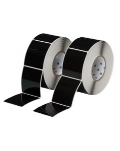 "Polyester Raised Panel Label-3.00""x3.50""-Black-500/RL"