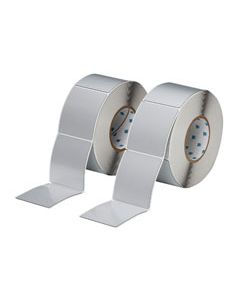 "Polyester Raised Panel Label-3.00""x3.50""-Silver-500/RL"