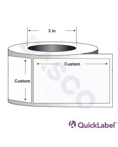 Quicklabel 217 High-Gloss White Polypropylene Label for GHS Applications w/ Aggressive Adhesive