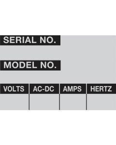 "Aluminum Foil Labels-2.25""x1.50""-5/PK"