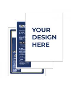 Custom Printed Interior 8.5in x 11in Automotive Window Sticker – (250/PK)