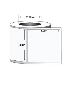 "Paper Label-Direct Thermal-4.00""x4.00""-White-1500/RL 4/CS"
