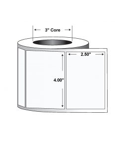 "Paper Label-Direct Thermal-4.00""x2.50""-White-2280/RL 4/CS"