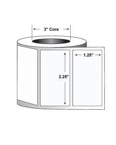 "Paper Label-2.25""x1.25""-White-4350/RL 8/CS"