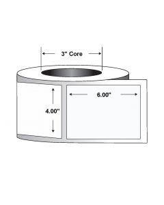 "Paper Label-Direct Thermal-4.00""x6.00""-White-1000/RL 4/CS"