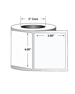 "Paper Label-Direct Thermal-4.00""x3.00""-White-2000/RL 4/CS"