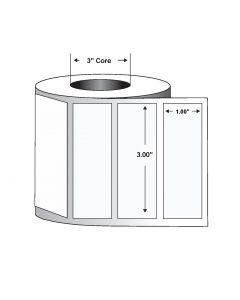 "Paper Label-Direct Thermal-3.00""x1.00""-White-5500/RL 6/CS"
