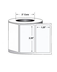 "Paper Label-2.25""x1.25""-White-3770/RL 8/CS"