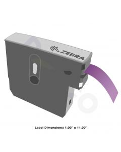 "Z-Band Direct Wristband-1.00""x11.00""-Purple-200/RL 6/CS"