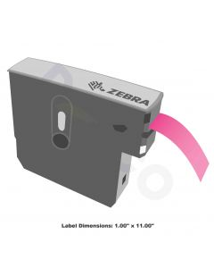 "Z-Band Direct Wristband-1.00""x11.00""-Pink-200/RL 6/CS"