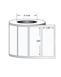 """Paper Tag-3.00""""x1.25""""-White-3750/RL 6/CS"""