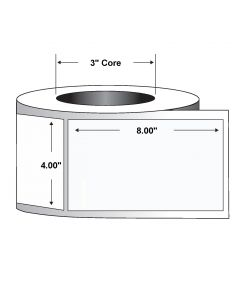 "Paper Label-4.00""x8.00""-White-690/RL 4/CS"