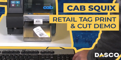 Cab Squix Retail Tag Print and Cut Demonstration
