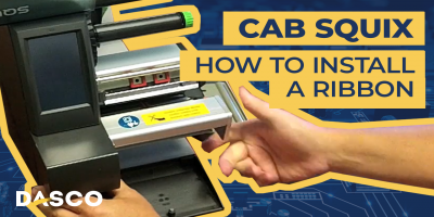 How to Install a Ribbon in the Cab Squix Printer