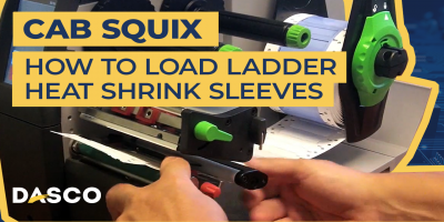 How to load Ladder shrink sleeves in a Cab Squix printer