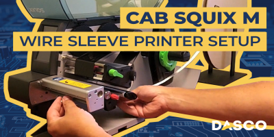 How to Set Up the Cab Squix M Wire Sleeve Printer