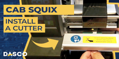 How to install a cutter on the Cab Squix printer