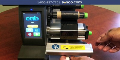 How to Load Continuous Heat Shrink in cab SQUIX Printer