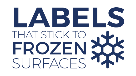 Labels that Stick to Frosted and Frozen Surfaces