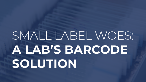 Small Label Woes: A Lab's Barcode Solution