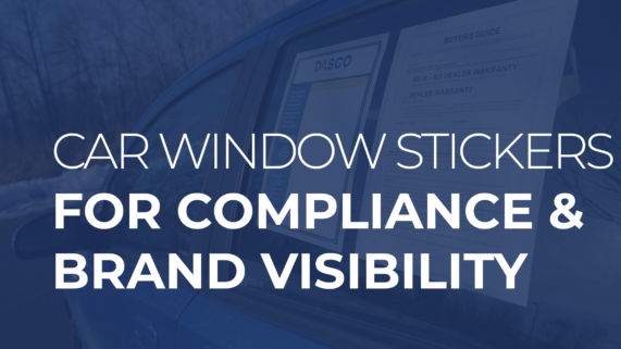 Car Window Stickers for Compliance and Brand Visibility